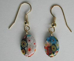 Multi Color Millefiori Earrings