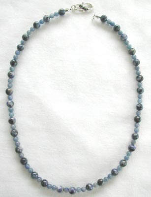 Dumortierite and Blue Aventurine Necklace