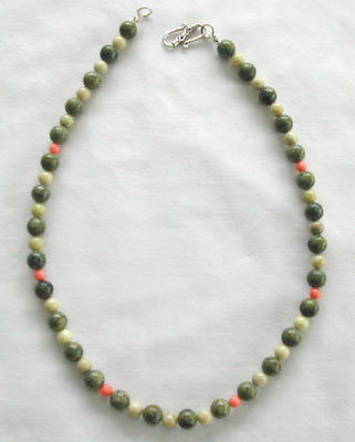 Peridot Jasper and Sediment Green Necklace