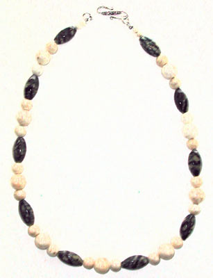 Natural Fossil and Jasper Necklace