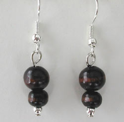 Dark Wood Earrings