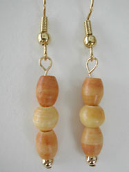 Antique Bone Beaded Earrings