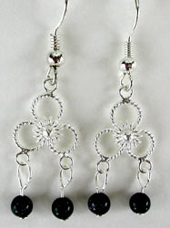 Blue Goldstone Chandelier Earrings