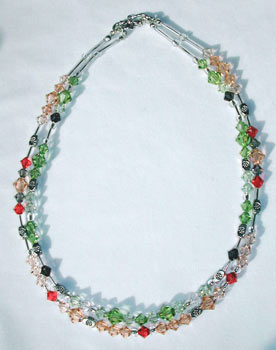 Peridot and Peach Necklace