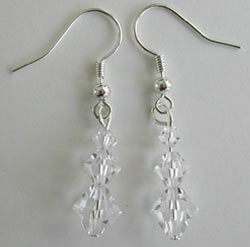 Swarovski Crystal Bicone Earrings