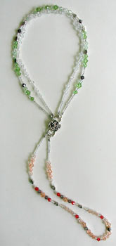 Dangle Peach from Crystal & Peridot 2 strand