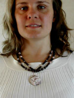 poppy jasper and rosetta necklace