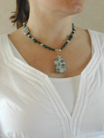 tree agate necklace-pendant