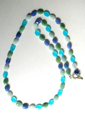 multi blue quartz necklace