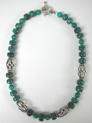 Turquoie barrel necklace