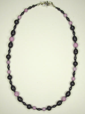 fuchsia turquoise and black onyx necklace