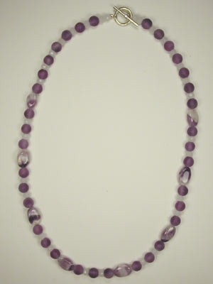 matte and banded amethyst necklace