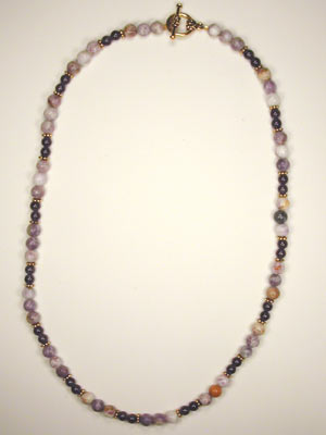 sugalite and dark amethyst necklace