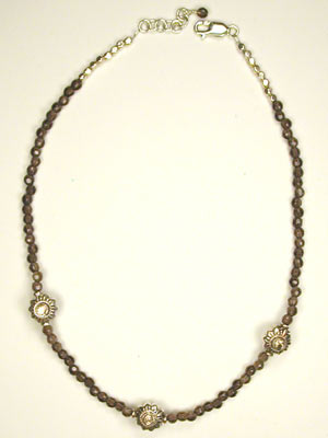smoky quartz choker necklace