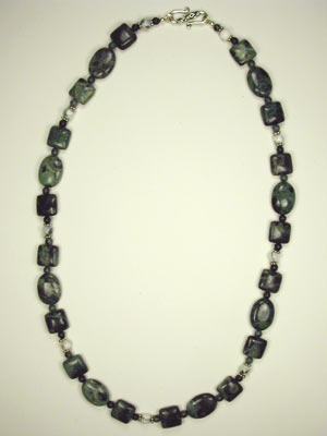 Tree agate and kambaba jasper necklace