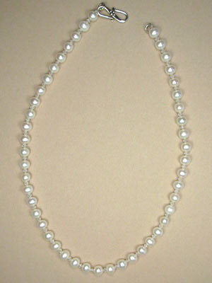 pearl and rock crystal necklace