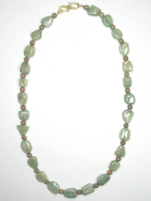 green aquamarine and jasper necklace