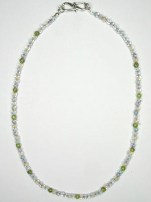 amethyst-blue topaz-citrine-peridot small necklace