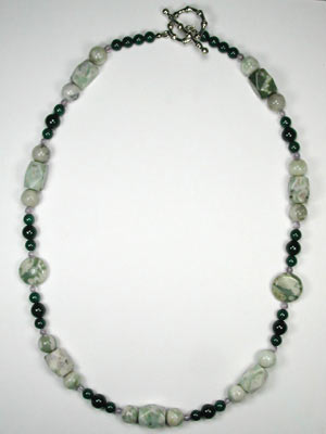 peace stone and mountain jade necklace