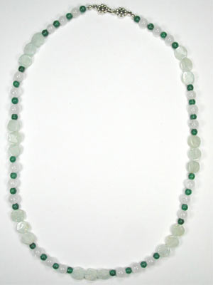 aquamarine and green aventurine necklace