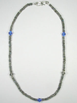 Labradorite and Swarovski necklace