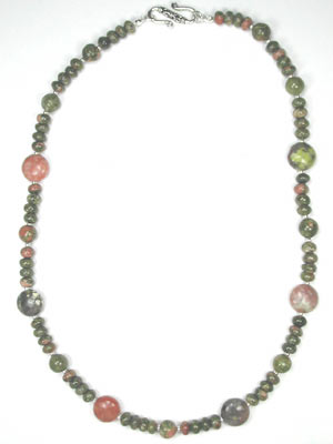 unakite and spice jasper necklace