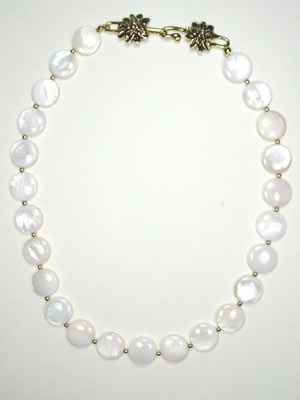 Natural White Mother of Pearl Necklace