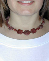 muscovite gemstone necklace
