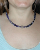 sodalite gemstone necklace