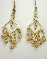 handcrafted gold chandelier earrings