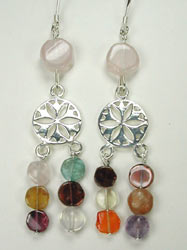 multi color chandelier earrings