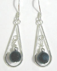 silver and spectrolite earrings