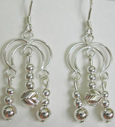 handmade silver chandelier earrings