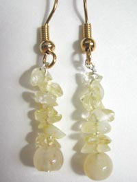 citrine chip earrings