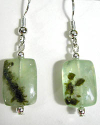 green tourmalated quartz earrings