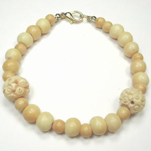 handmade antique bone bracelet