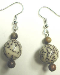 handcrafted betelnut earrings
