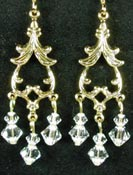 Crystal and gold chandelier earrings