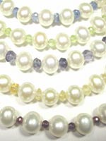 pearl and gemstone necklace set