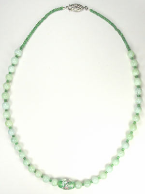 handmade green opal necklace