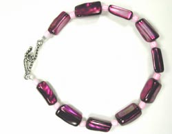 purple shell bracelet