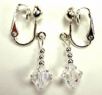 Swarovski crystal clip 0n earrings