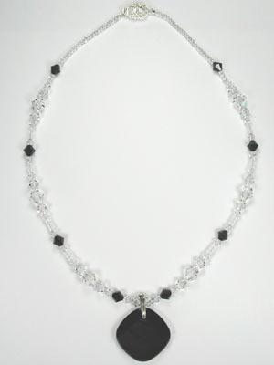 crystal and jet necklace
