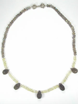 labradorite and citrine necklace