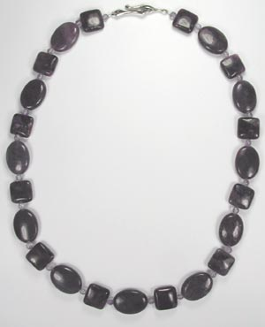 dark purple sugilite necklace