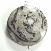 gray crazy lace agate pendant