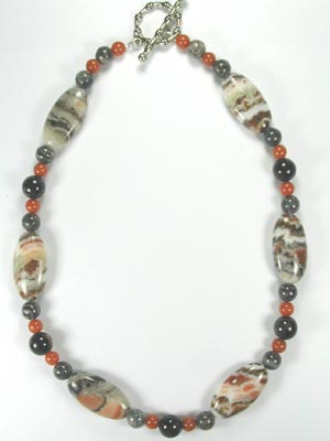 painted desert jasper necklace