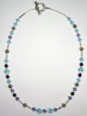 Swarovski lilac and blue necklace