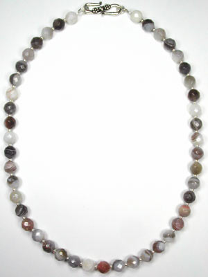 faceted botswana agate necklace