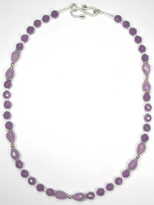 lavendar jade necklace